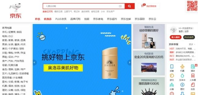Chinese ecommerce sites JD