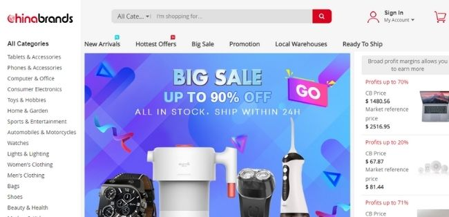 Chinese ecommerce sites chinabrands