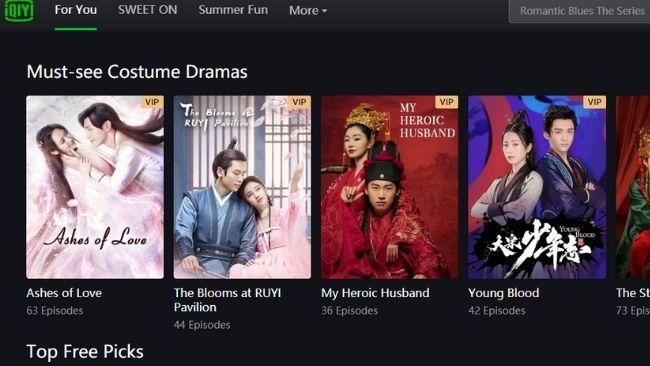 Chinese video sites iyiqi english